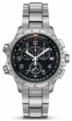Hamilton X-Wind GMT Stainless Steel Black Dial H77912135