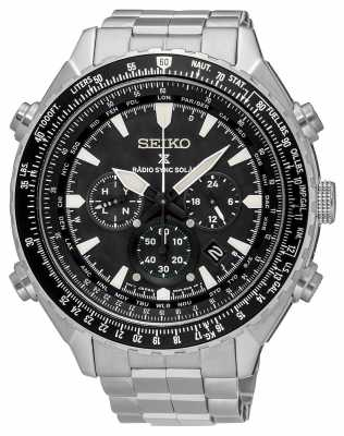 seiko watches official uk retailer first class watches seiko prospex radio sync solar mens chronograph black dial ssg001p1