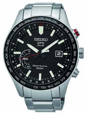 Seiko Sportura GPS Perpetual Solar Chronograph Stainless Steel SSF003J1