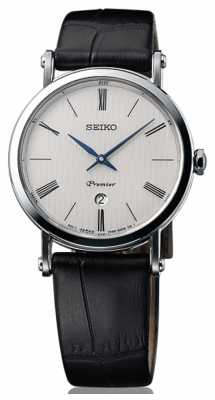 Seiko Premier Ladies Sapphire Glass Black Leather SXB431P1