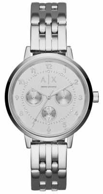 Armani Exchange Womens Stainless Steel Stone Set Dial AX5376