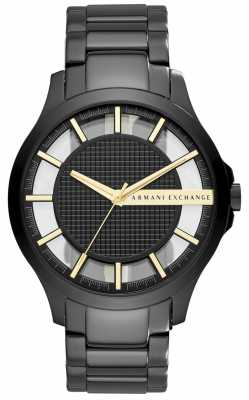 Armani Exchange Mens Black PVD Plated Steel AX2192