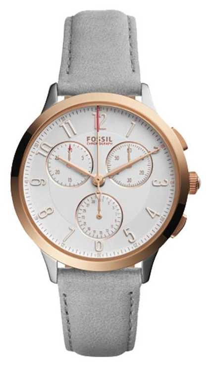 fossil womens grey leather ch3071