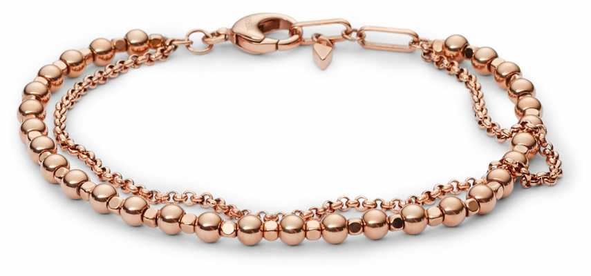 Fossil Womens PVD Rose Gold Plated Bracelet JA6776791
