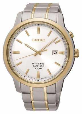 Seiko Mens Kinetic Two Tone Sapphire 100m SKA742P1