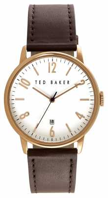 Ted Baker Mens Rose Gold Case White Dial TE10030651