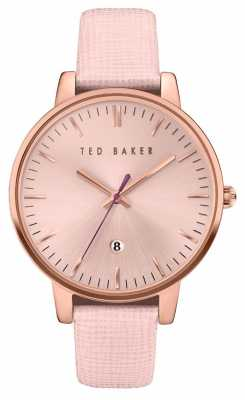 Ted Baker Womans Rose Gold Case Rose Gold Dial TE10030737