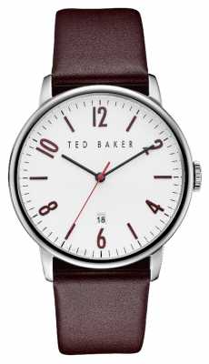 Ted Baker Mens Stainless Steel Case White Dial TE10030755
