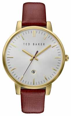 Ted Baker Womans Gold Case Red Leather Strap TE10030739