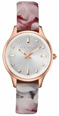 Ted Baker Womans Rose Gold Case Silver TE10030741