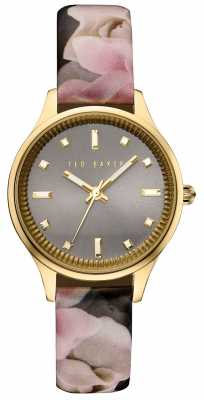 Ted Baker Womans Gold Case Rose Print Leather TE10030742