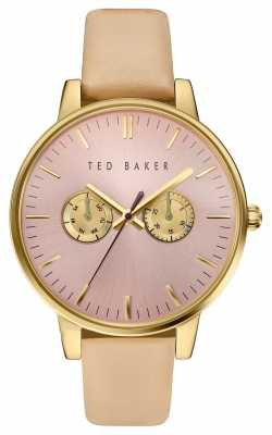 Ted Baker Womans Multi-function Dial Gold Case TE10030750
