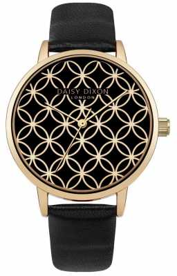 Daisy Dixon Womans Penny Watch Black Leather Strap DD034BG