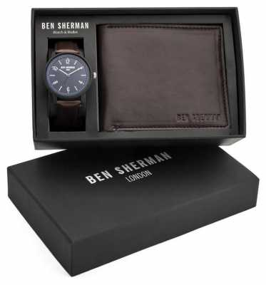 Ben Sherman Mens Brown Wallet Gift Set WB050UBRG