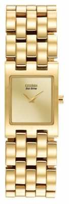 Citizen Womens Silhouette Eco-drive PVD Gold Plated EX1302-56P