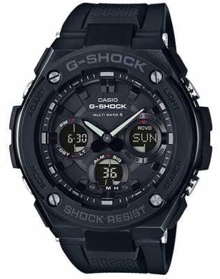 Casio Mens G-Steel Chronograph Alarm Black Rubber Strap GST-W100G-1BER