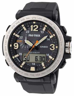 Casio Mens Pro Treksolar Powered Alarm Compass PRG-600-1ER