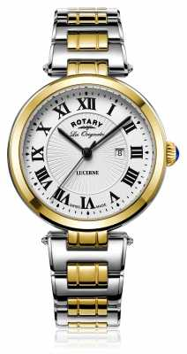 Rotary Womans Lucerne Two Tone Silver Gold LB90188/01/L