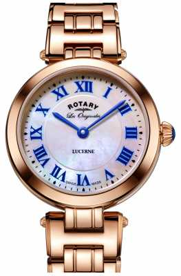 Rotary Womans Leucerne Rose Gold With Mother Of Pearl LB90189/41