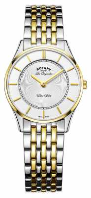Rotary Womans Ultraslim Two Tone Stainless Steel LB90801/41