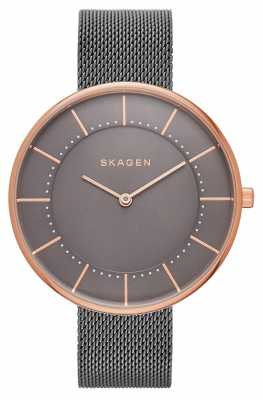 Skagen Womans Gitte Grey Mesh Rose Gold SKW2584