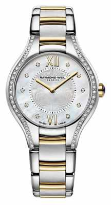 Raymond Weil Womans Two Tone Noemia 62 Diamond Mother Of Pearl 5124-SPS-00985