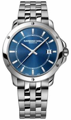 Raymond Weil Mens Stainless Steel Blue Index Dial 5591-ST-50001