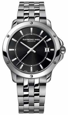 Raymond Weil Mens Stainless Steel Black Index Dial 5591-ST-20001
