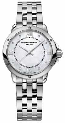 Raymond Weil Womans Stainless Steel Dot Diamond Mother Of Pearl 5391-ST-00995