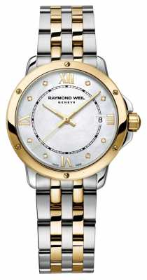 Raymond Weil Womans Two Tone Diamond Dot Mother Of Pearl 5391-STP-00995