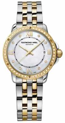 Raymond Weil Womans Two Tone Diamond Dot Mother Of Pearl 5391-SPS-00995