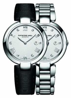Raymond Weil Womans Stainless Steel Silver Diamond Dot 1600-ST-00618
