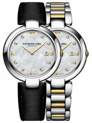Raymond Weil Womans Two Tone Stainless Steel Diamond Dot 1600-STP-00995
