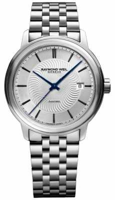 Raymond Weil Mens Automatic Stainless Steel Exhibition Case 2227-ST-65001