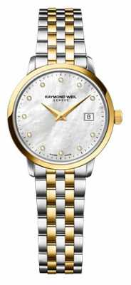 Raymond Weil Womans Two Tone Gold Diamond Dot 5988-STP-97081