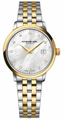 Raymond Weil Womans Two Tone Gold Diamond Dot 5988-STP-97081