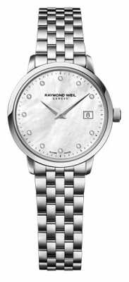 Raymond Weil WOmans Quarts Stainless Steel Silver Diamond Dot 5988-ST-97081