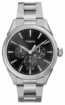 Timex Mens Chesapeake Multifunction Silver Tone Black Dial TW2P97000