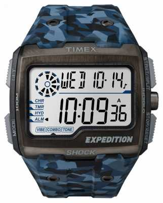 Timex Mens Expedition Grid Shock Blue Camo TW4B07100