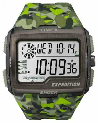 Timex Mens Expedition Grid Shock Green Camo TW4B07200