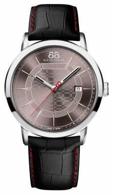 88 Rue du Rhone Double 8 Origin Mens Black Leather Red Stitching 87WA140026
