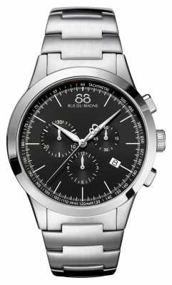 88 Rue du Rhone Rive Mens Chronograph Black Face Stainless Steel 87WA154307