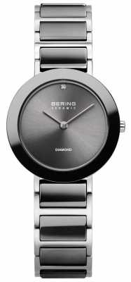 Bering Womens Ceramic Bracelet Grey Dial 11429-CHARITY2