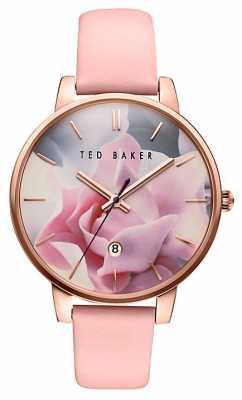 Ted Baker Ladie Rose Pattern Dial, Pink Strap TE10030745