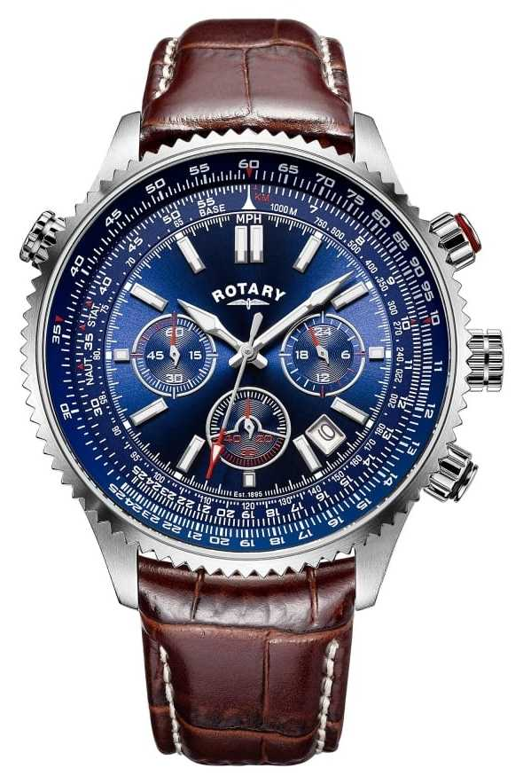 rotary gents chronograph blue dial watch gs00699 05