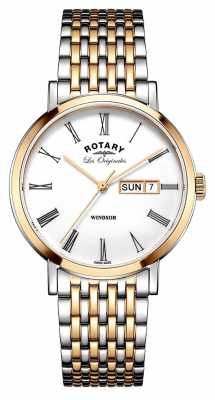 Rotary Gents Two Tone Rose Bracelet GB90155/01