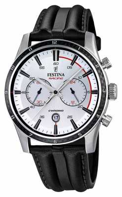 Festina Festina Mens Chrono With Black Leather Strap F16874/1