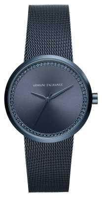 Armani Exchange Ladies Mesh Strap Diamond Style Dial AX4504
