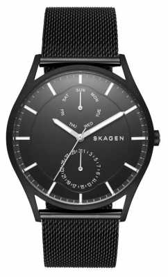 Skagen Holst Multifunction Black Steel-Mesh Watch SKW6318