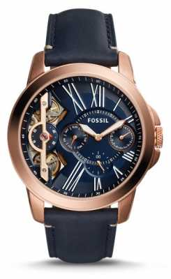 Fossil Mens Grant Twist  Blue Leather Chronograph ME1162